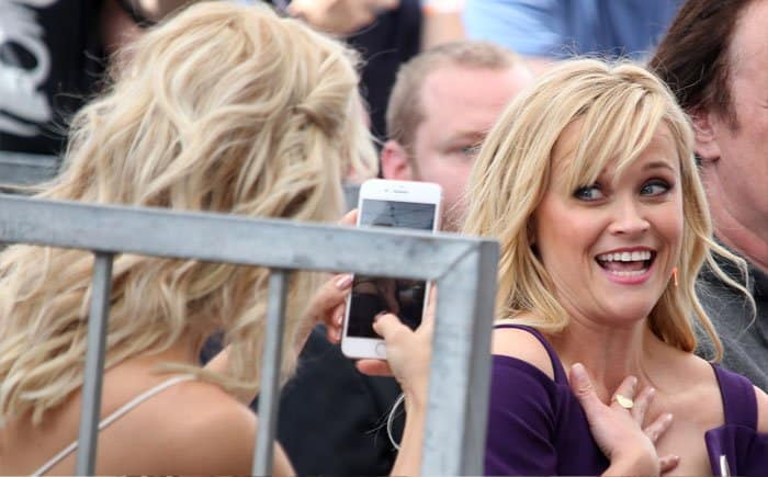 Kate goofs off with her celebrity pal, Reese Witherspoon
