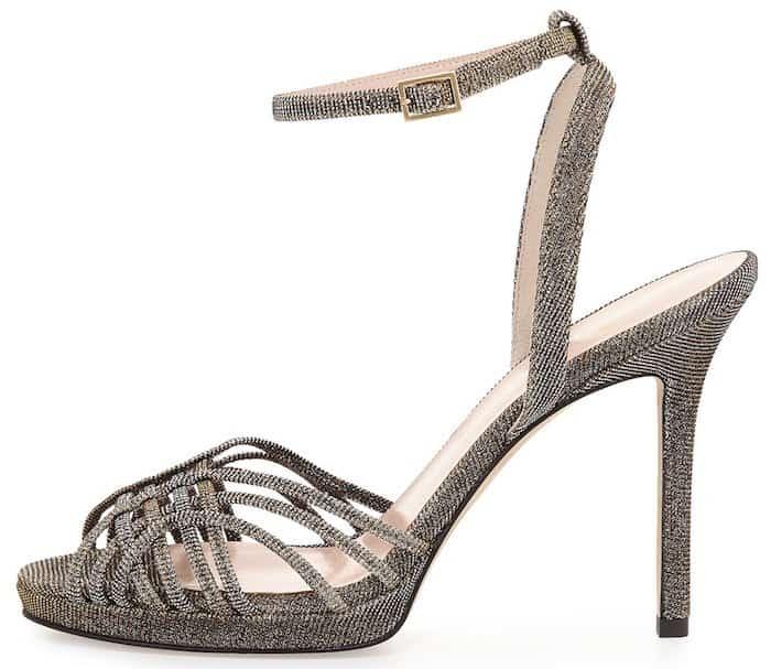 Kate Spade Farryn Shimmery Strappy Sandals