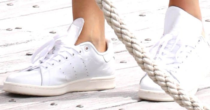 Kendall Jenner roughs up her Adidas 'Stan Smith' sneakers to make them summer-ready