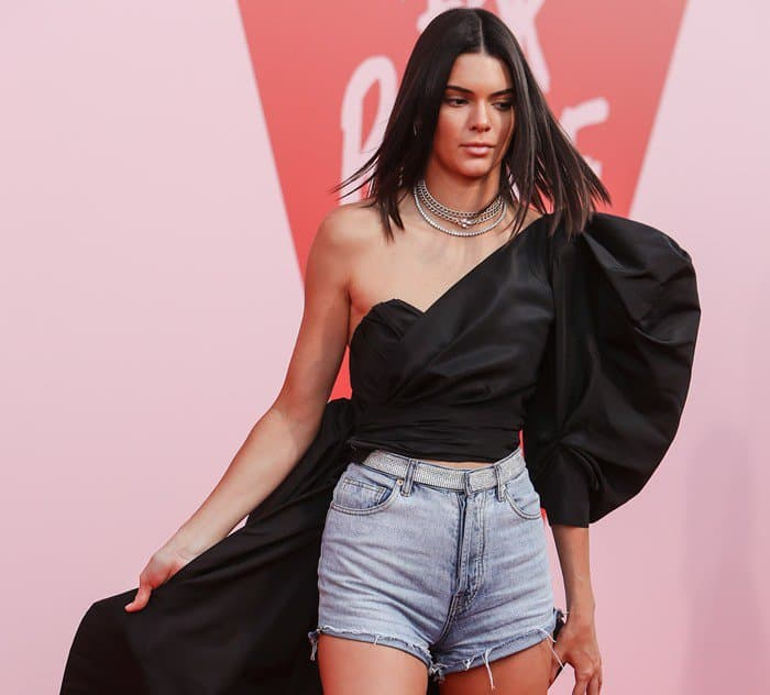 Kendall Jenner wearing Alexandre Vauthier at the Fashion For Relief event held during the 2017 Cannes Film Festival held at Hanger 16 Cannes-Mandelieu Airport in Cannes, France, on May 21, 2017