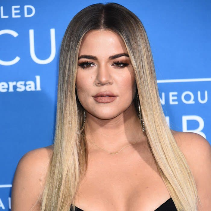 Khloé Kardashian looked waxwork-like