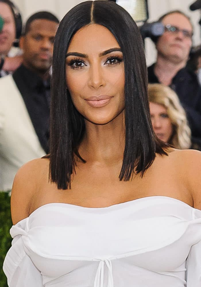 Kim Kardashian arrives solo at the 2017 MET Gala in New York on May 1, 2017