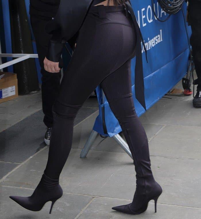 Kim Kardashian wearing Balenciaga's innovative Cosmetic Pantashoes