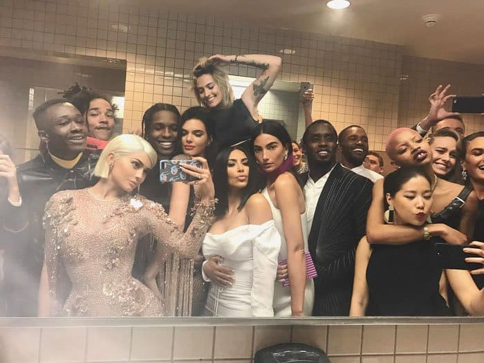 Kim's sister Kylie takes another star-studded selfie at the bathroom of the Met Gala