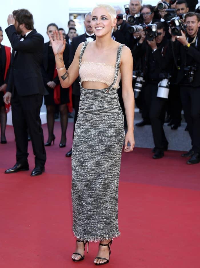 Kristen Stewart wearing towering 'Award' sandals from Le Silla