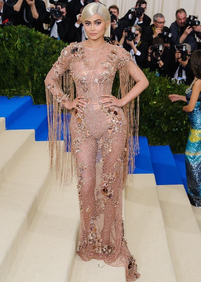 Kylie Jenner Breaks Met Rules in Sheer Gown and \'Nudist\' Sandals