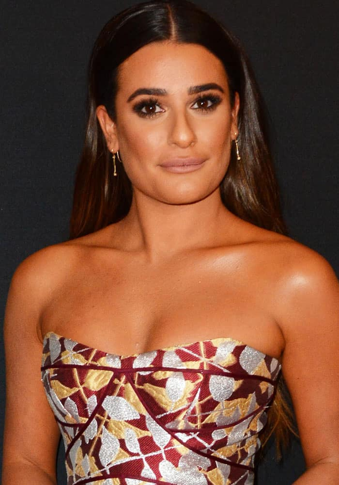 Lea Michele arrives at ABC Upfronts in New York on May 17, 2017