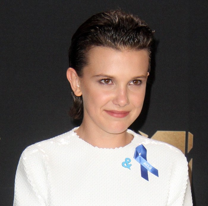 Millie Bobby Brown kept her hair and makeup sleek and simple for the event