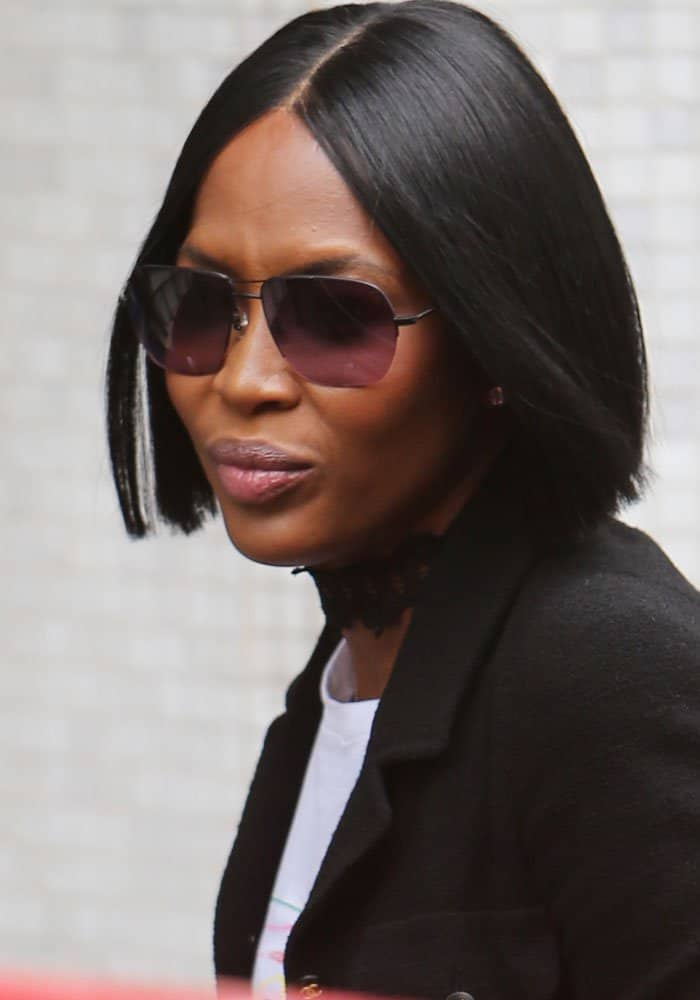 Naomi Campbell outside ITV Studios in London on May 9, 2017