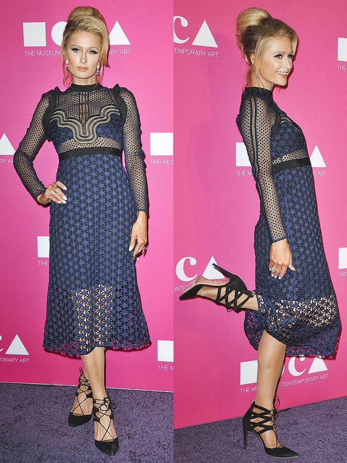 Paris Hilton attending the 2017 Museum of Contemporary Art Gala (MOCA) Gala in Los Angeles, California, on April 30, 2017.