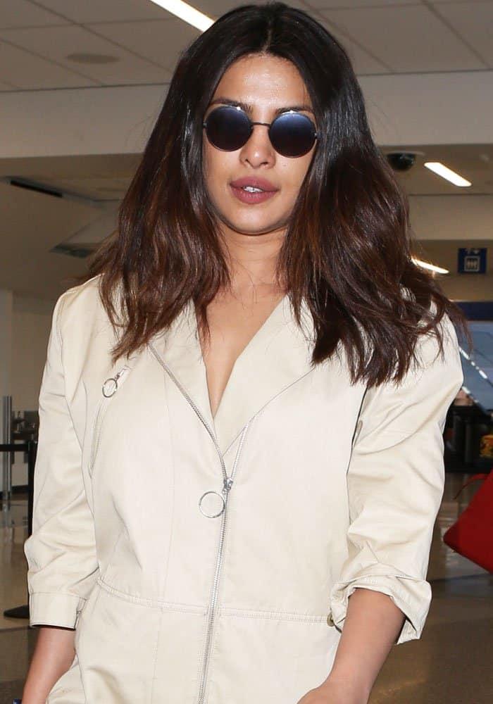 Priyanka Chopra arrives at Los Angeles International Airport on May 24, 2017