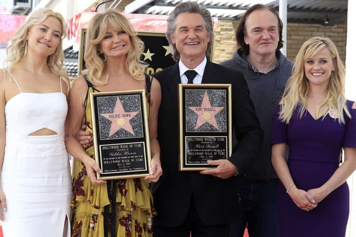 Reese poses with Hollywood greats Kate Hudson, Goldie Hawn, Kurt Russell and Quentin Tarantino