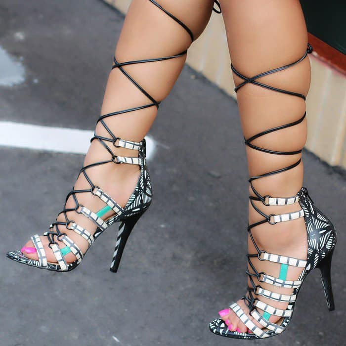 Strappy 'Rezza' High Heel Sandals