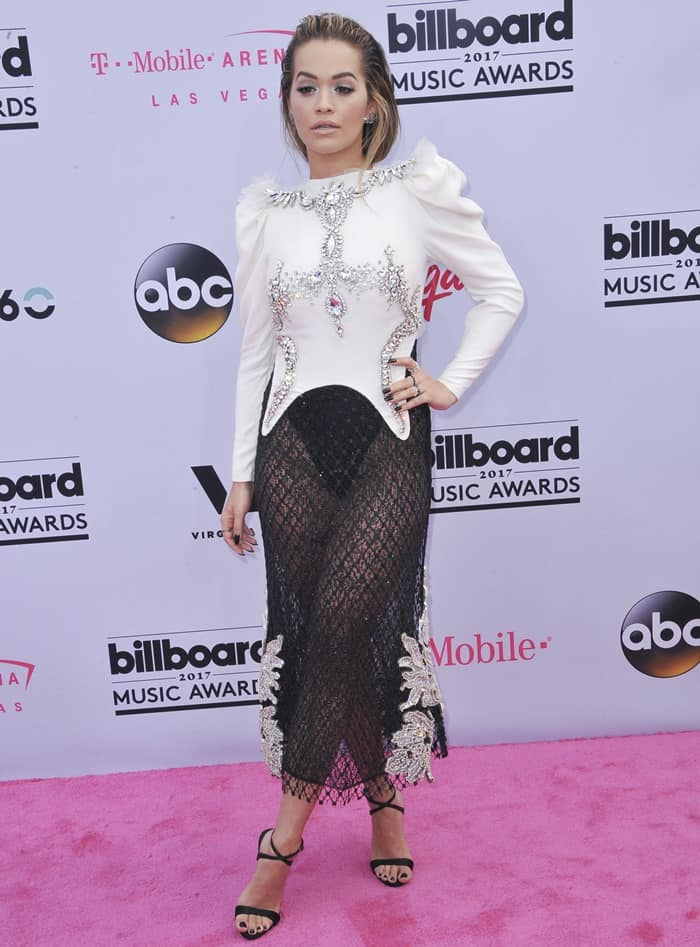 Rita Ora in Francesco Scognamiglio Couture at the 2017 Billboard Music Awards held at the T-Mobile Arena in Las Vegas on May 21, 2017