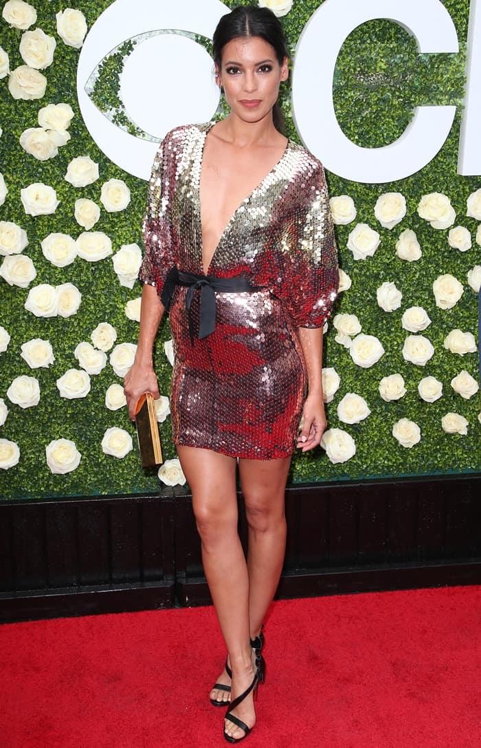 Stephanie Sigman sparkled in a Galia Lahav Fall 2017 mini dress at the the 2017 Summer TCA Tour – CBS Television Studios' Summer Soiree held at the CBS Studios – Radford in Studio City, California, on August 1, 2017