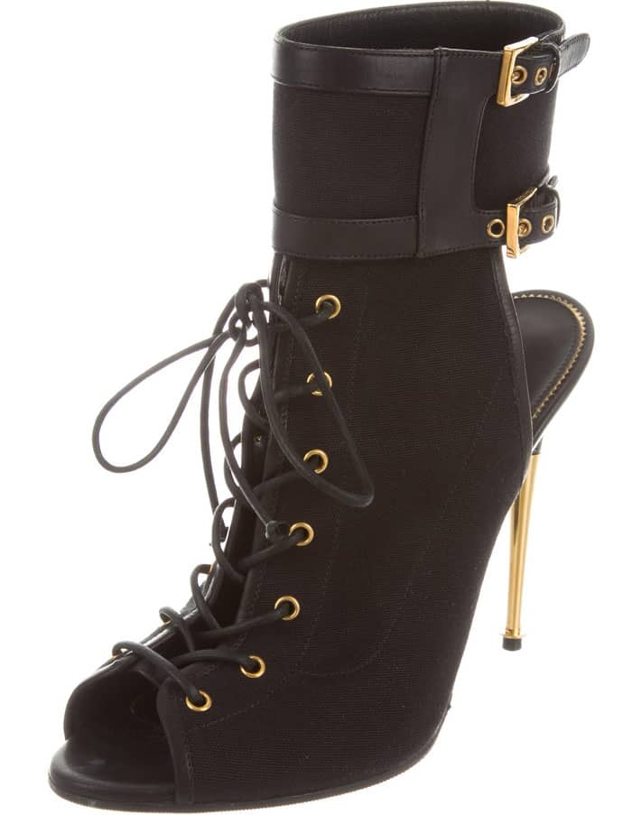 Tom Ford Peep Toe Lace-up Sandals