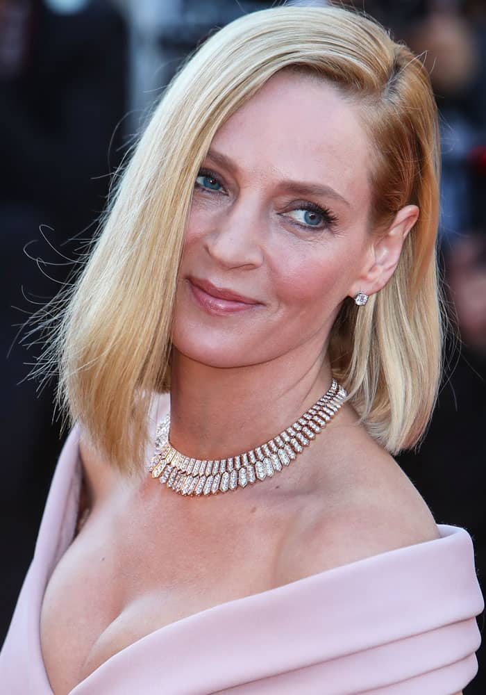 """Uma Thurman attending the opening gala """"Ismael's Ghosts"""" at the 70th Cannes Film Festival held at the Palais des Festivals in Cannes, France on May 17, 2017"""