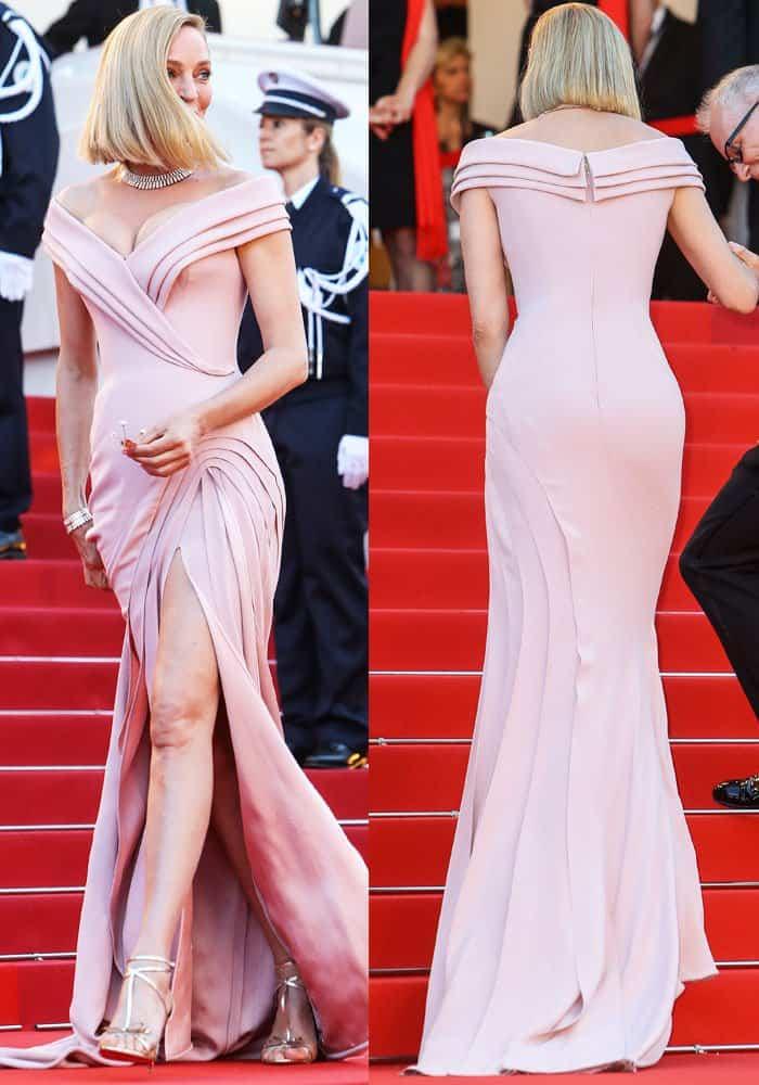 Uma Thurman Debuts Blunt Chop At Cannes In Blakissima