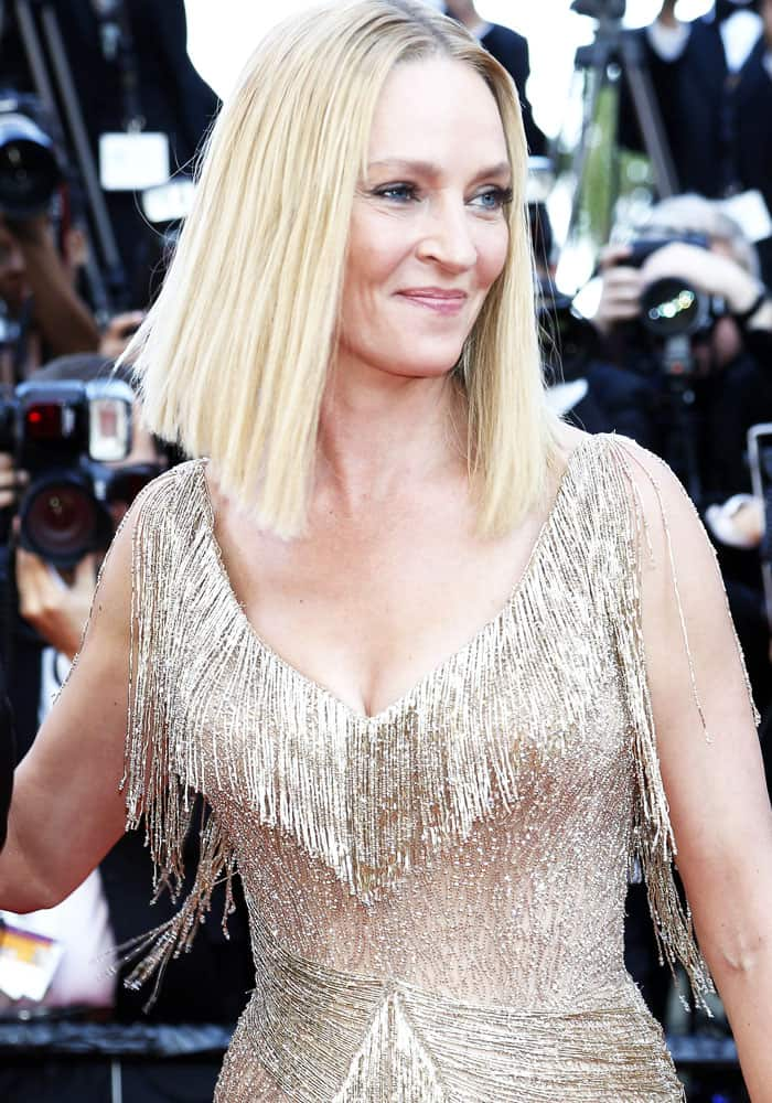 Uma Thurman attending the closing-night of the 70th Cannes Film Festival at the Palais des Festivals in Cannes, France on May 28, 2017