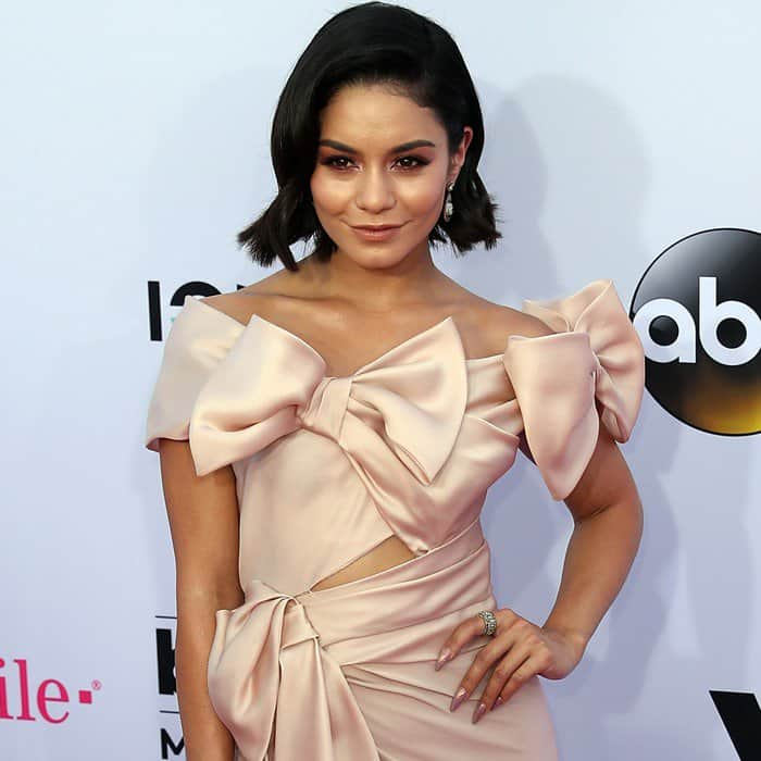 Vanessa Hudgens wearing Marchesa at the 2017 Billboard Music Awards held at the T-Mobile Arena in Las Vegas on May 21, 2017