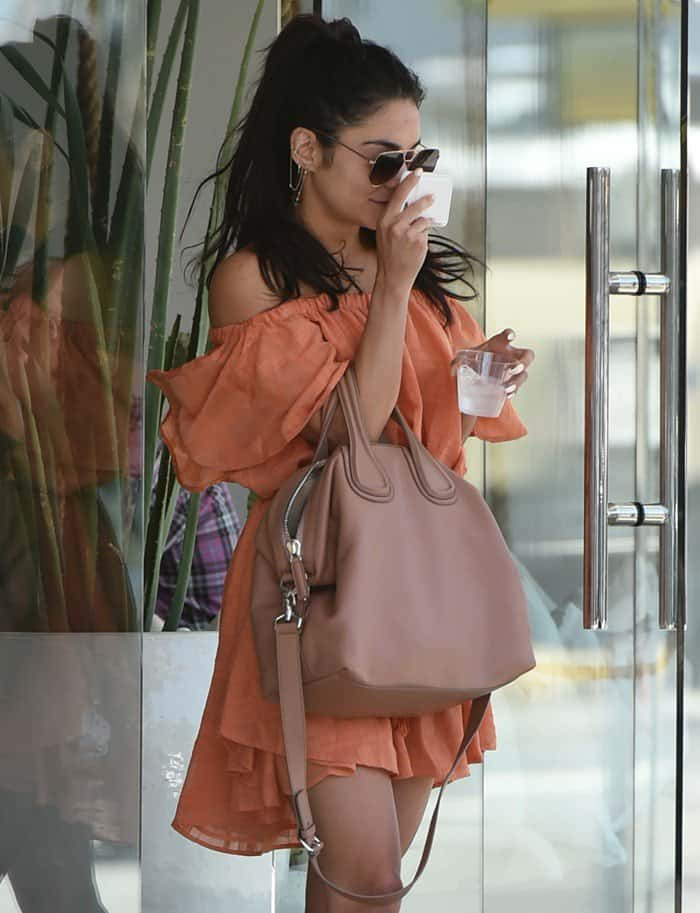 Vanessa Hudgens goes for a massage in Los Angeles on May 11, 2017