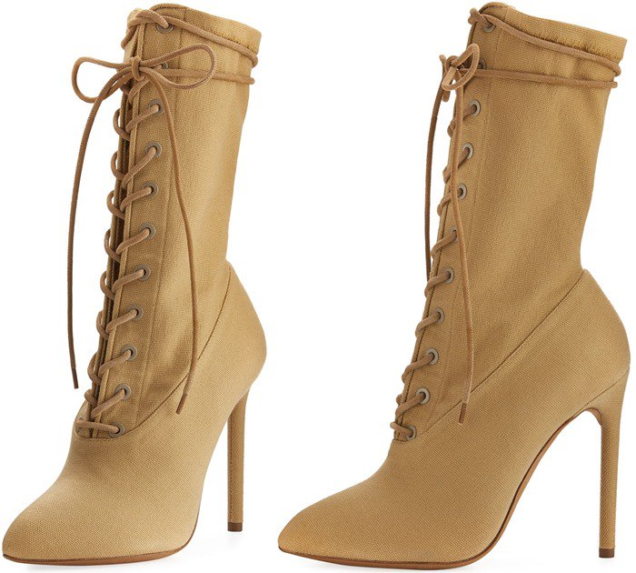 Yeezy Stretch-Canvas Lace-Up Boot