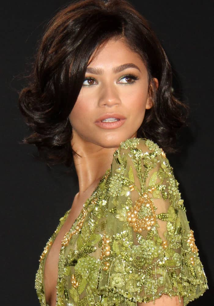 Zendaya at the 2017 MTV Movie & TV Awards held at the Shrine Auditorium in Los Angeles on May 7, 2017