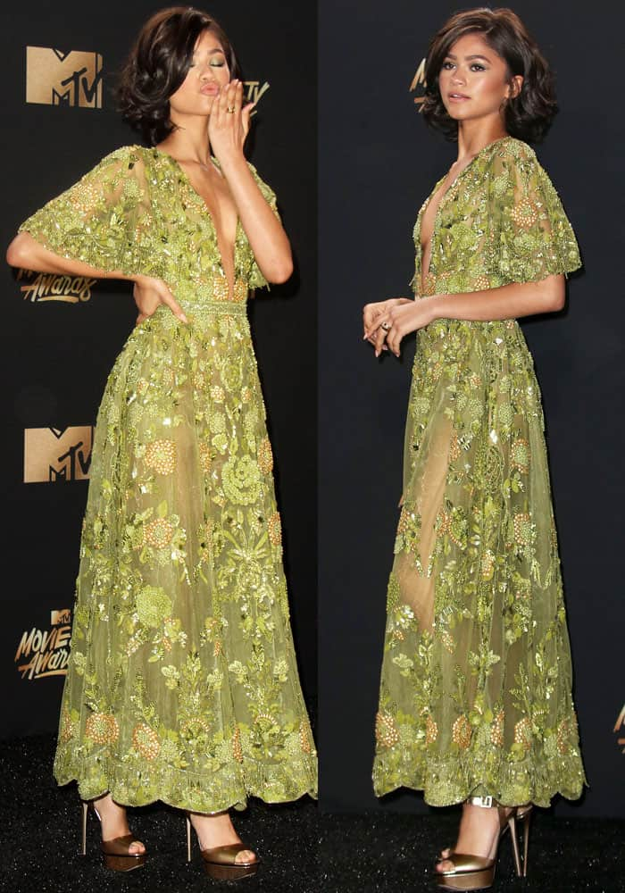 Zendaya looks ethereal in a Zuhaie Murad couture creation