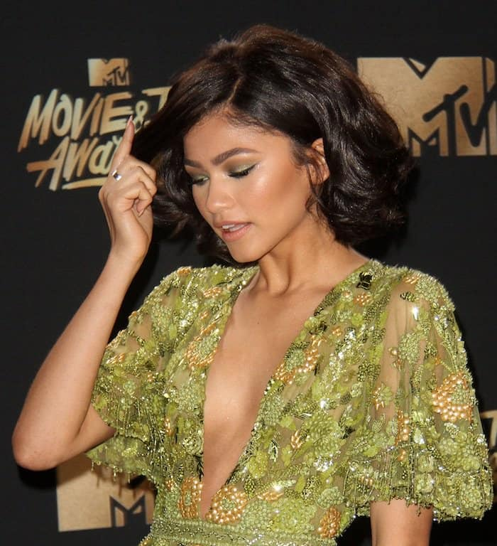 Zendaya's hair and makeup were just as glamorous as her ensemble