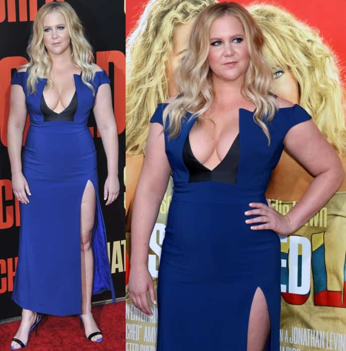 Amy Schumer decided to expose one of her breasts when filming the 2017 American comedy film Snatched