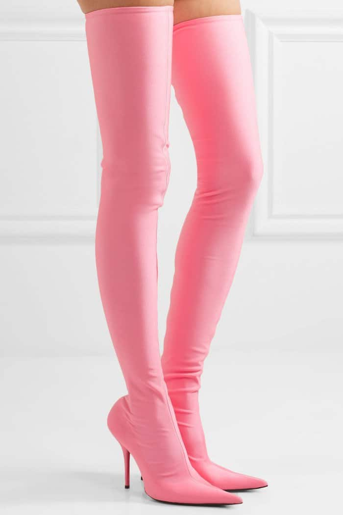 "Balenciaga ""Knife"" Thigh-High Boots in Pink"