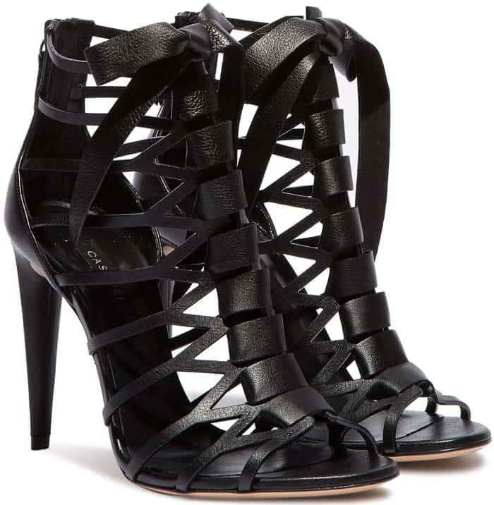 Casadei Cut-Out Cage Evening Sandals