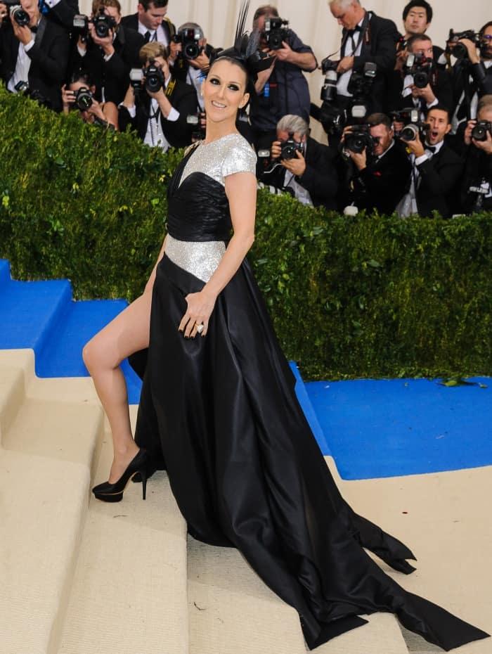 Celine Dion at the 2017 Metropolitan Costume Institute Benefit Gala held at the Metropolitan Museum of Art