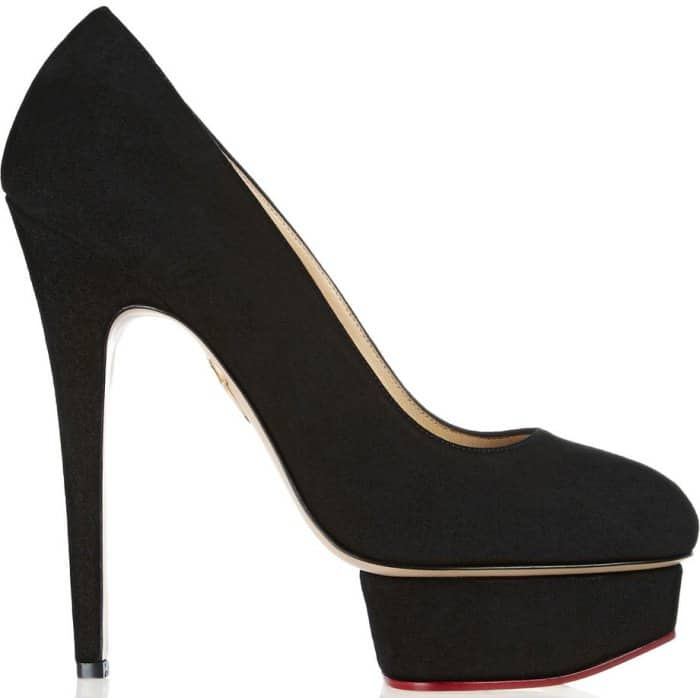 "Charlotte Olympia ""Dolly"" Pumps in Black Suede"