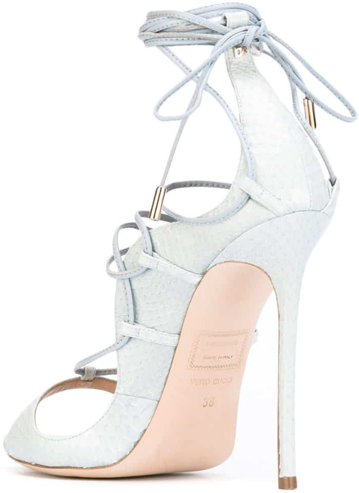 "DSquared2 ""Riri"" Sandals in Light Blue Water Snake Skin"