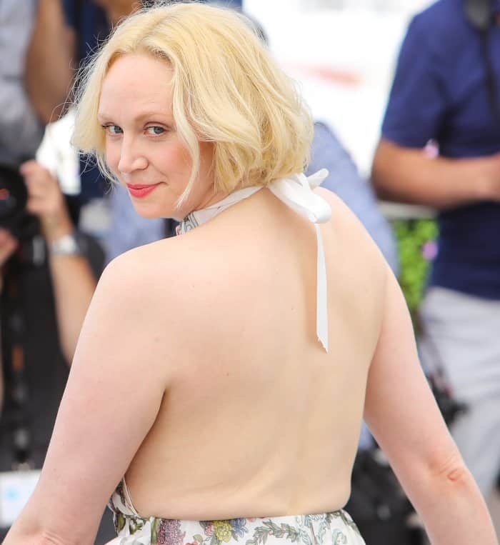 "Gwendoline Christie wearing head-to-toe Fendi at the 70th Cannes Film Festival ""Top of the Lake: China Girl"" photocall"