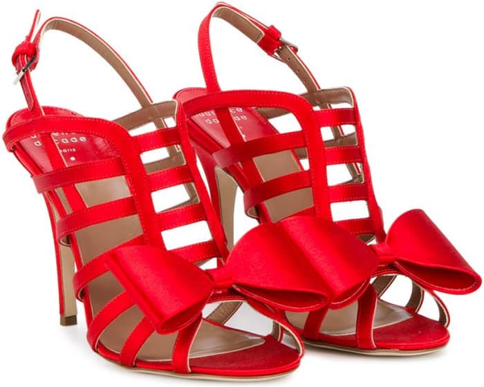 "Laurence Dacade ""Narcisse"" Sandals in Red Satin"