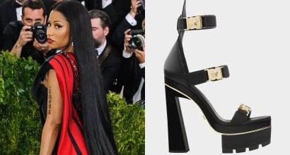 f52f9268c5f Nicki Minaj Pays Homage to Rei Kawakubo at Met Gala in Versace  Medusa   Sandals