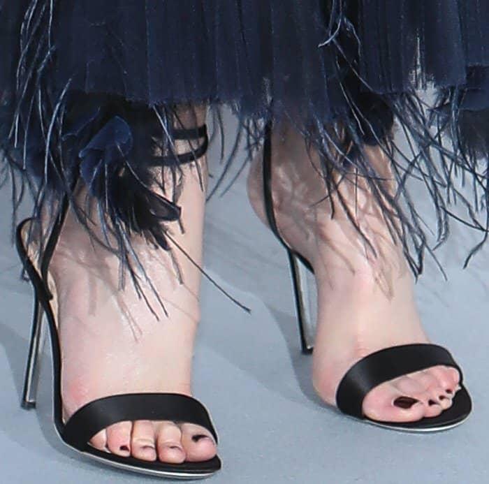 "Nicole Kidman wearing Giuseppe Zanotti ""Georgina"" sandals at the 24th annual amfAR Gala during the 70th annual Cannes Film Festival"