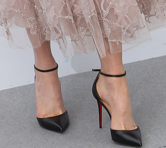 """Nicole Kidman wearing Christian Louboutin ankle-strap pumps at """"The Beguiled"""" photocall during the 70th annual Cannes Film Festival"""