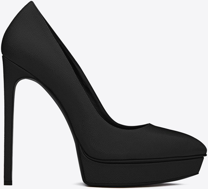 "Saint Laurent ""Janis"" Pumps in Textured Leather"