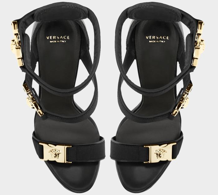 "Versace ""Medusa"" Tri-Strap Platform Sandals"