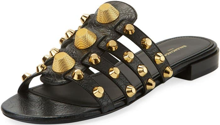 Balenciaga lambskin sandal with Giant 12 golden studs
