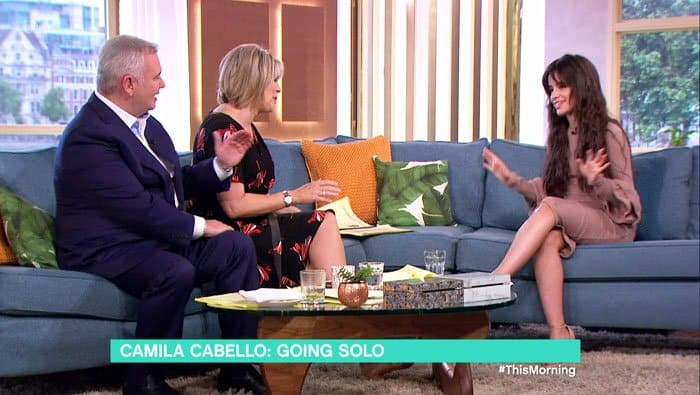 "Camila sat down with the hosts of ""This Morning"" to talk about her new music as well as her friendship with Ariana Grande and Ed Sheeran"