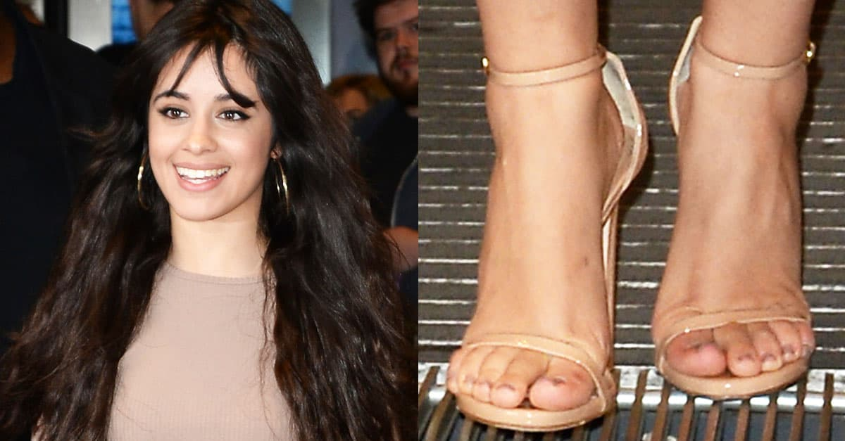 Camila Cabello S Sexy Feet Hot Legs In Follies Strass And Nudist Shoes