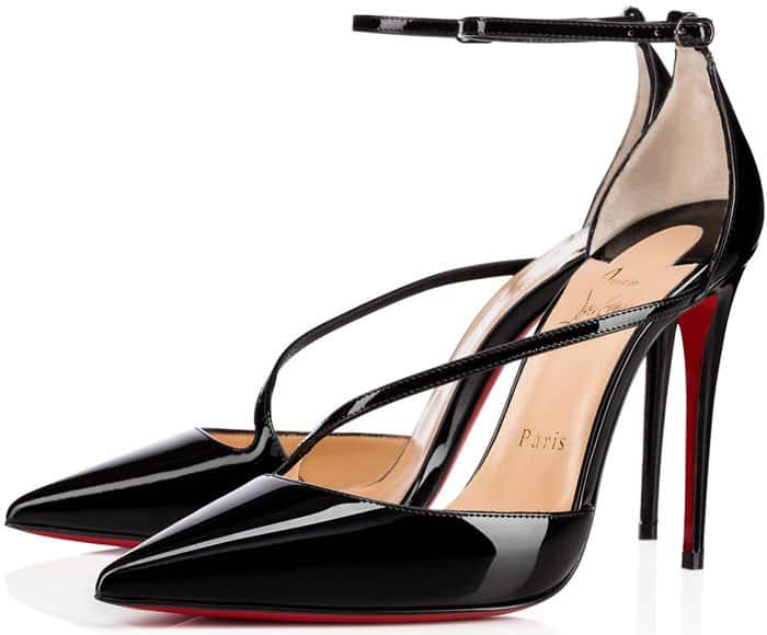 00ff1c24a66e Fliketta Ankle-Strap Pointy-Toe Pumps by Christian Louboutin