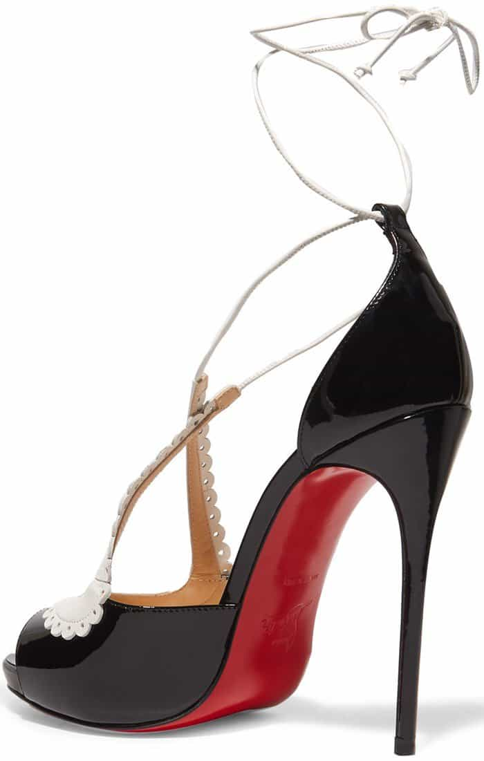 Operissima 120 Matte And Patent-leather Sandals - Black Christian Louboutin