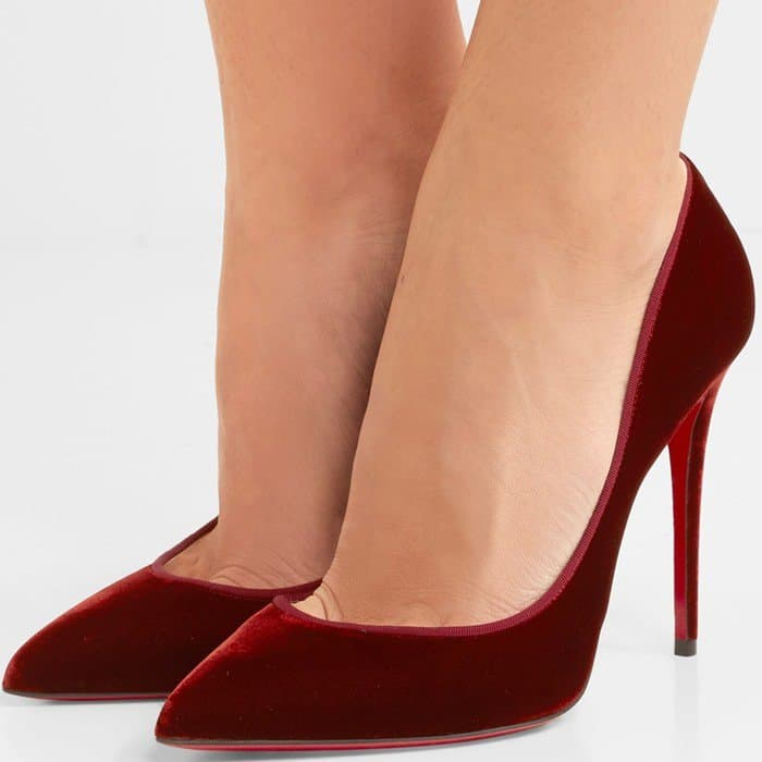 Christian Louboutin Pigalle Follies 100 velvet pumps