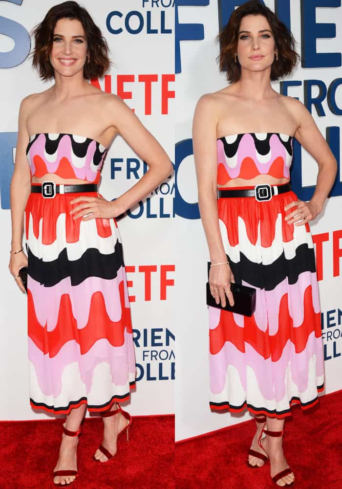 Cobie looks breezy in a two-piece creation from Emilio Pucci's Spring 2017 collection