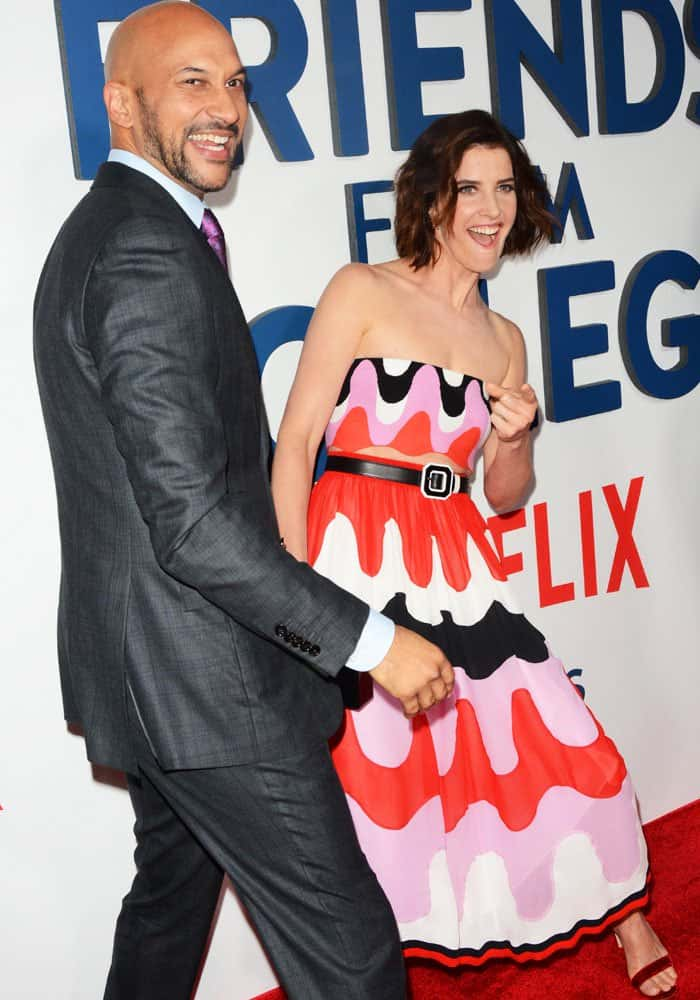 """Cobie goofs off with her """"Friends from College"""" co-star Keegan-Michael Key"""